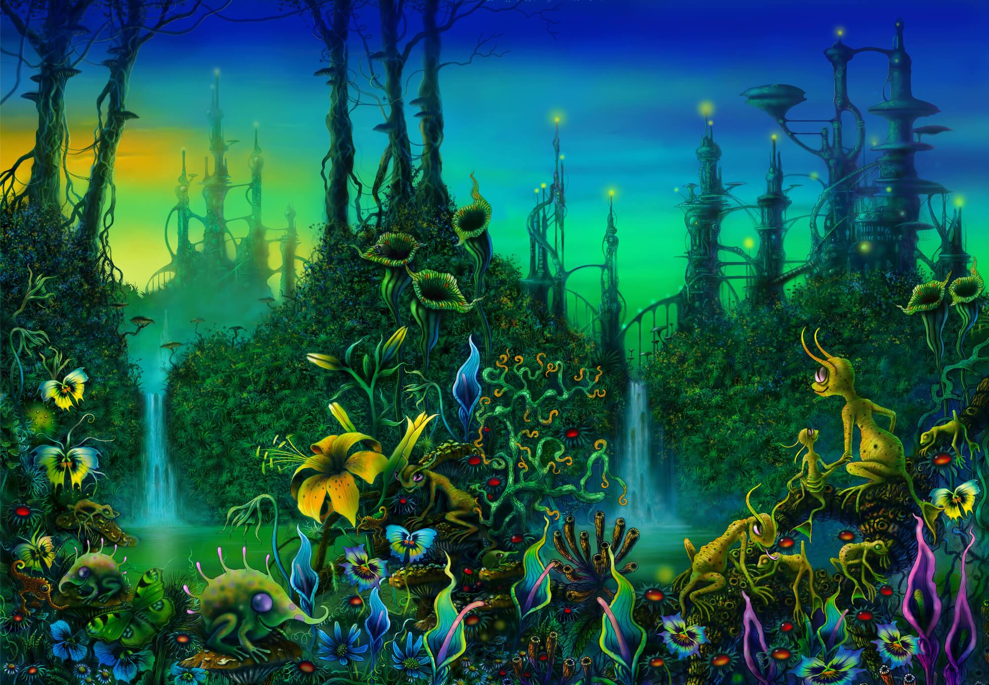 Alien Jungle Wall Mural