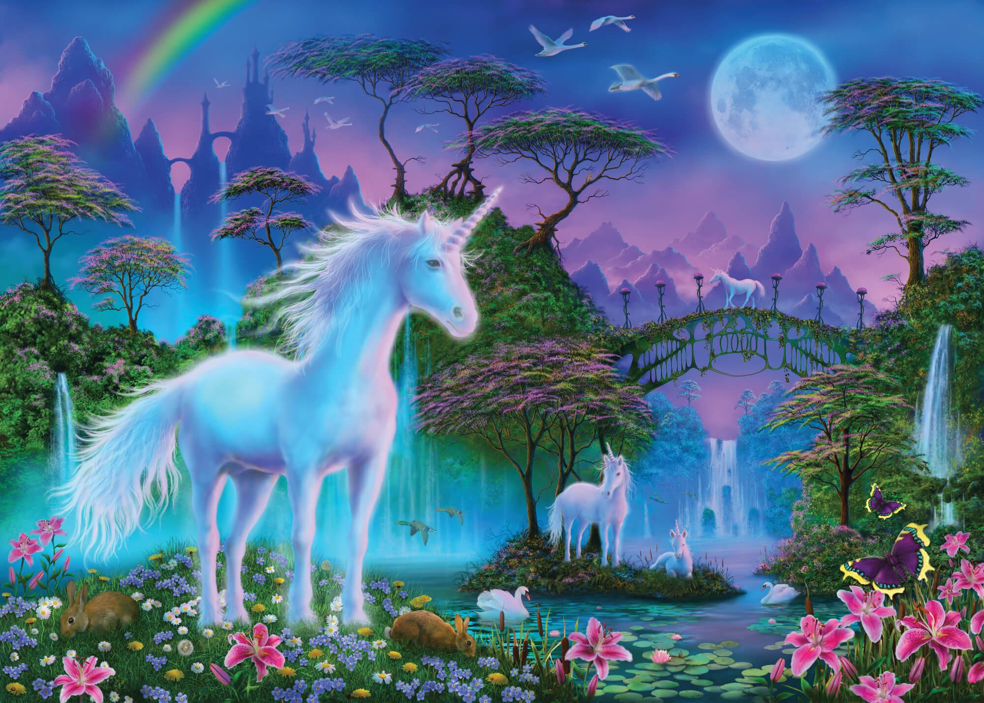 Unicorn Bridge Wall Mural