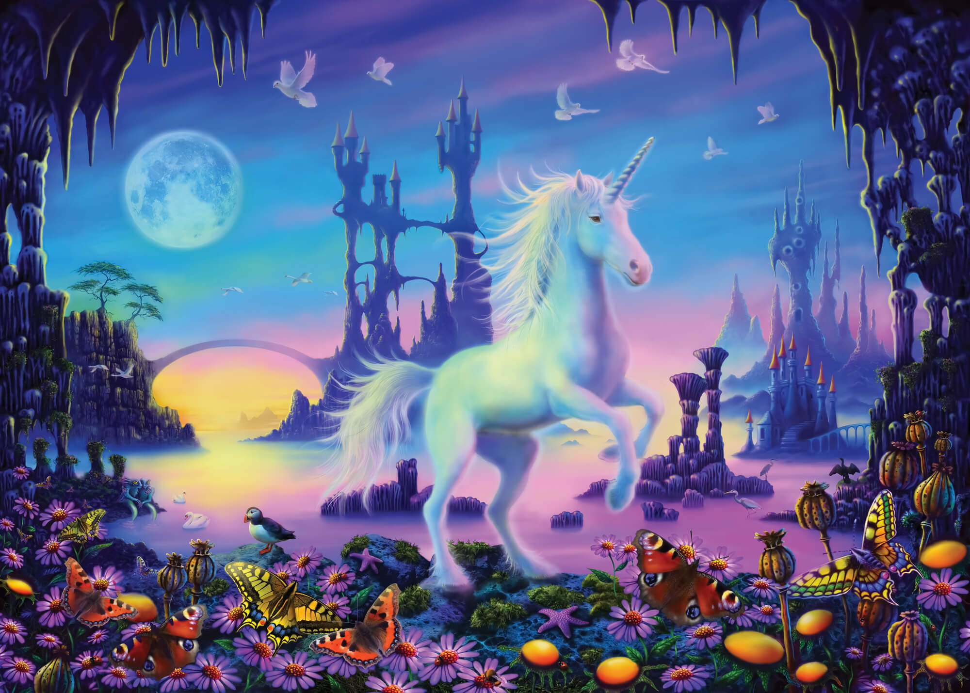 Unicorn Cavern Wall Mural Unicorn Cavern Wallpaper Wallsauce Denmark