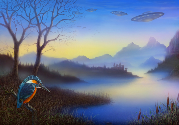 Kingfisher Lake mural wallpaper