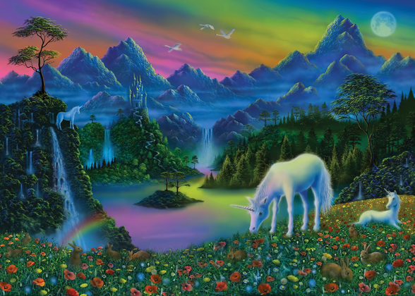 Land of the Unicorn mural wallpaper