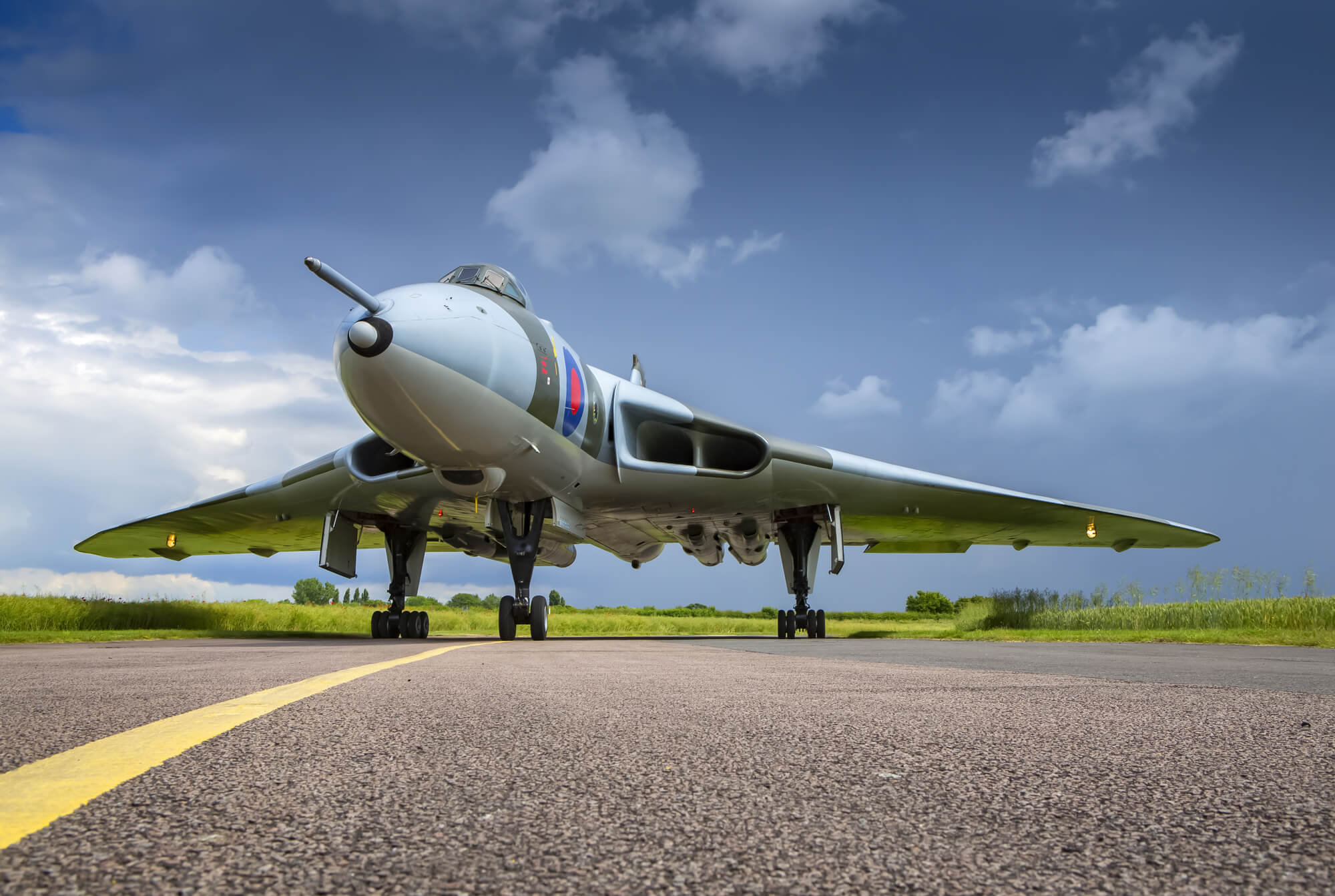 avro vulcan bomber on taxiway wall mural