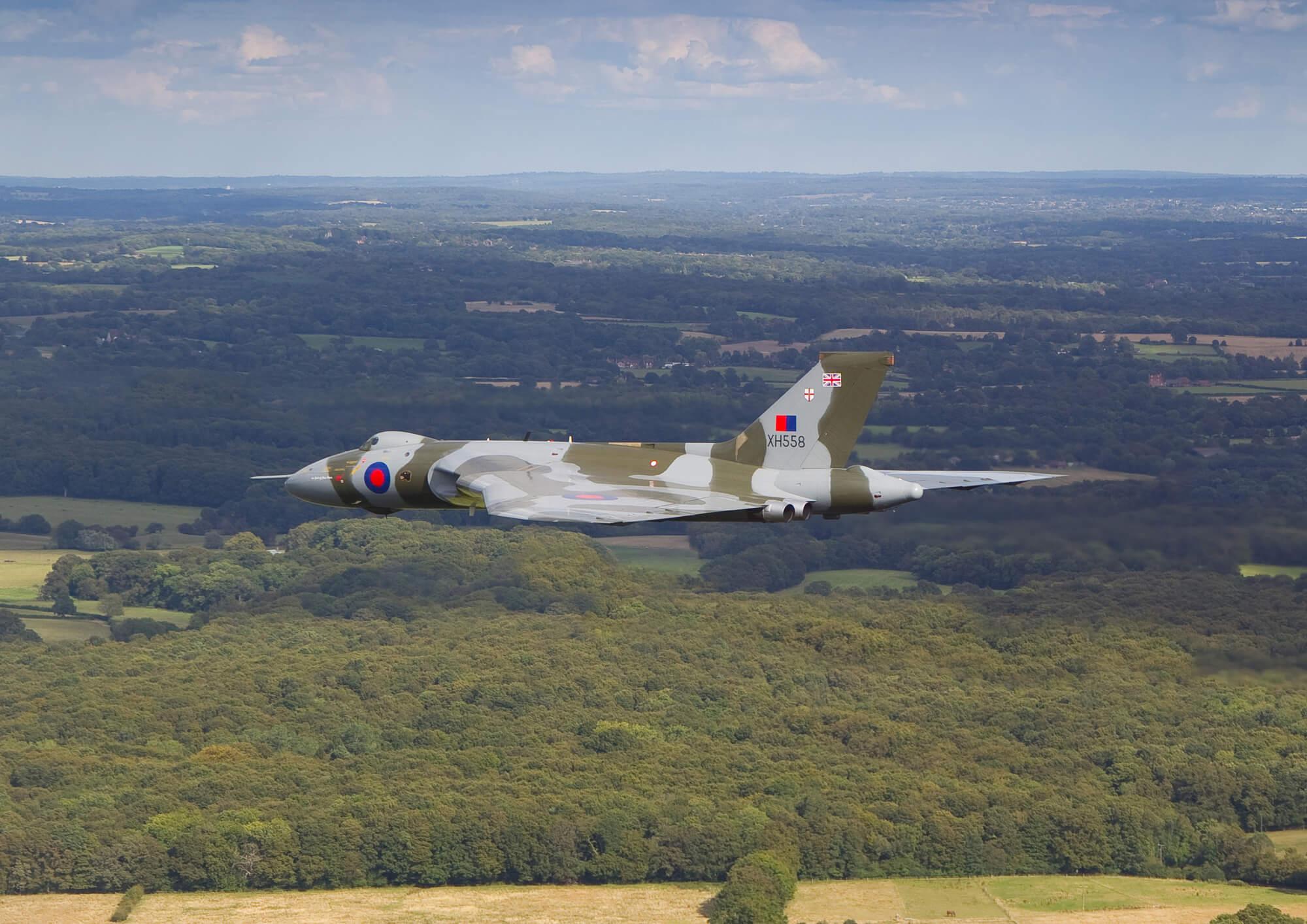 Avro vulcan bomber over countryside wall mural wallsauce uk - Vulcan wallpaper ...