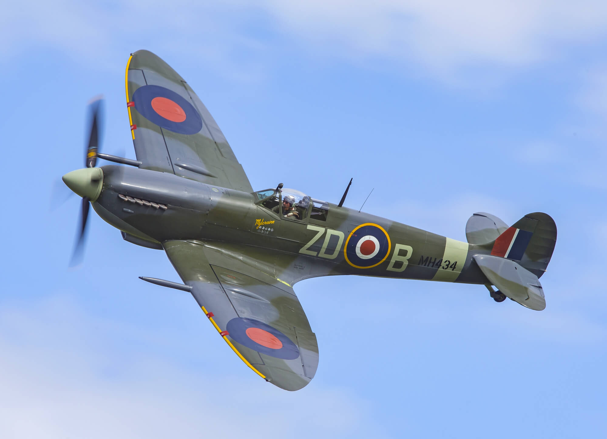 How To Paint A Mural On A Wall Supermarine Spitfire Mk Ix Wall Mural Amp Supermarine