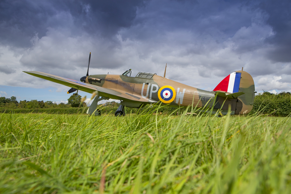Battle of Britain Hurricane on the grass wall mural