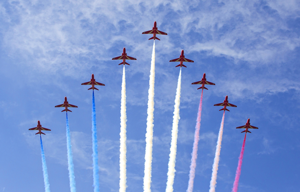 RAF Red Arrows wallpaper mural