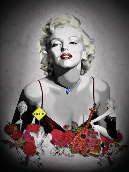 Marilyn Monroe - Black wall mural