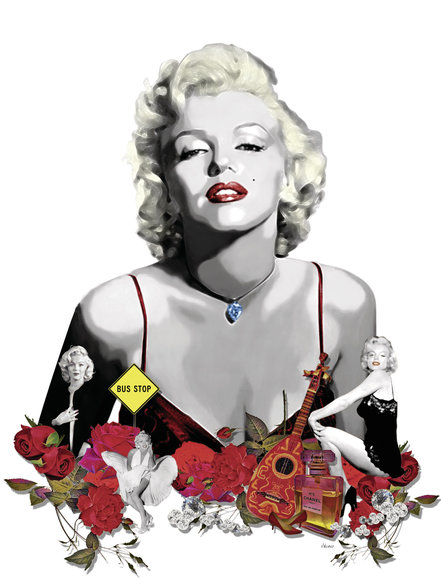 Marilyn Monroe - White wallpaper mural