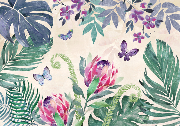 Tropical Leaves III wallpaper mural