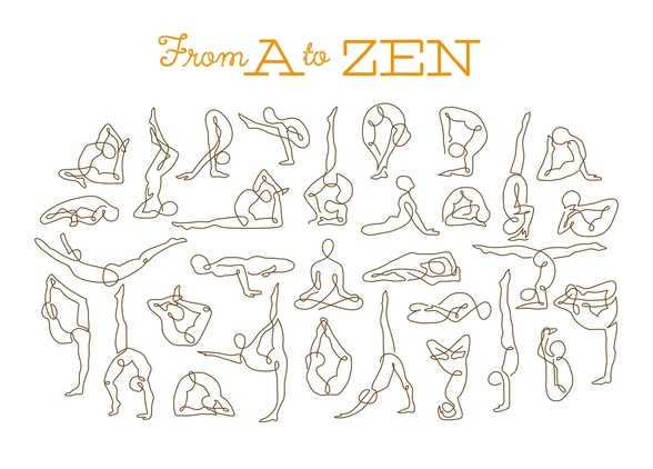 A to Zen mural wallpaper