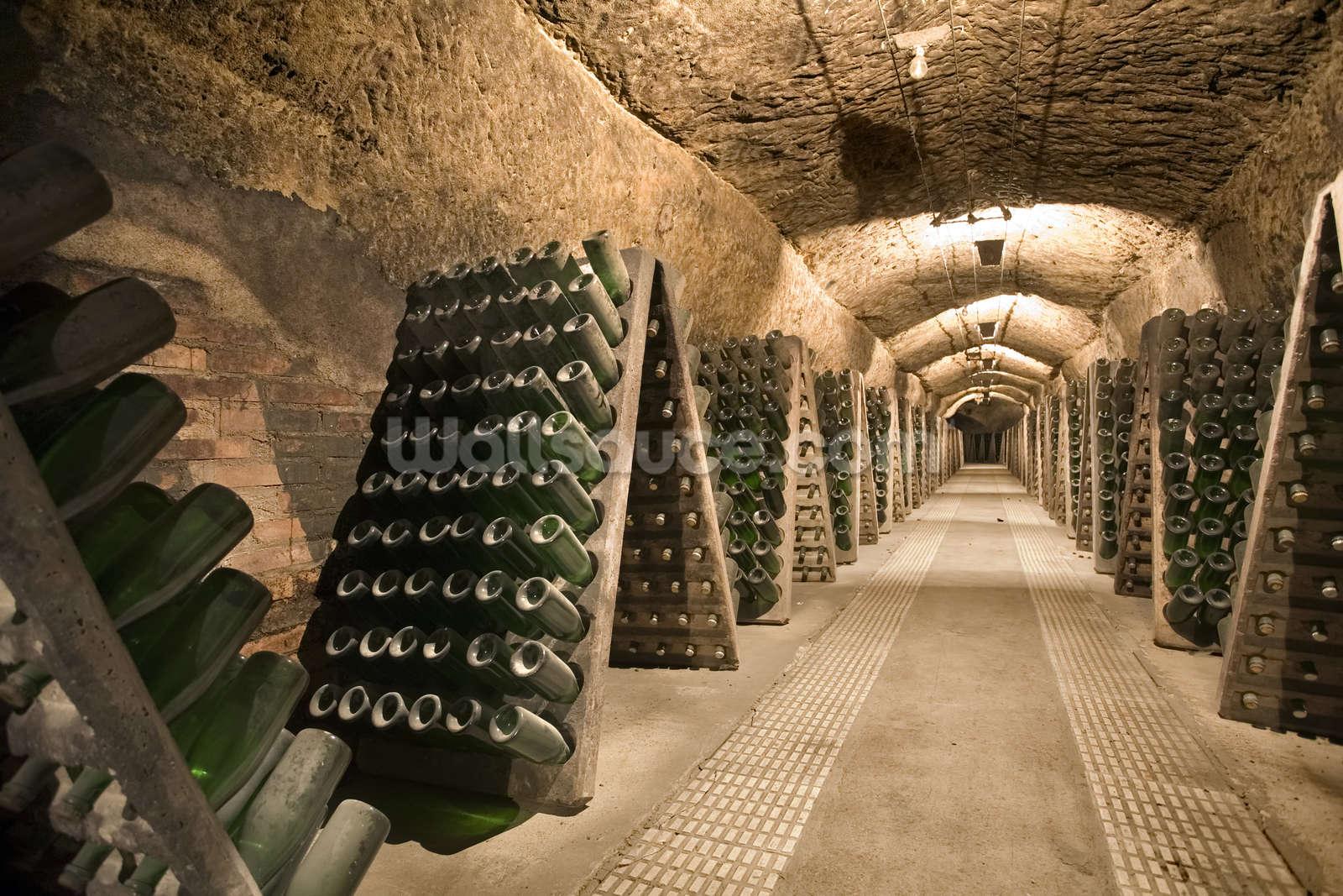 Epic Wine Cellar Wallpaper Wall Mural Wallsauce Usa