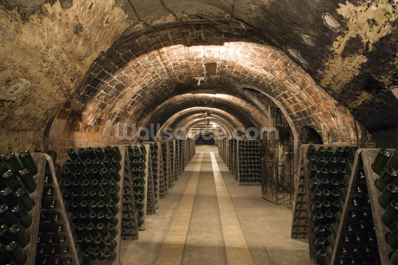 Wine Cellar mural wallpaper & Wine Cellar Wallpaper Wall Mural | Wallsauce USA