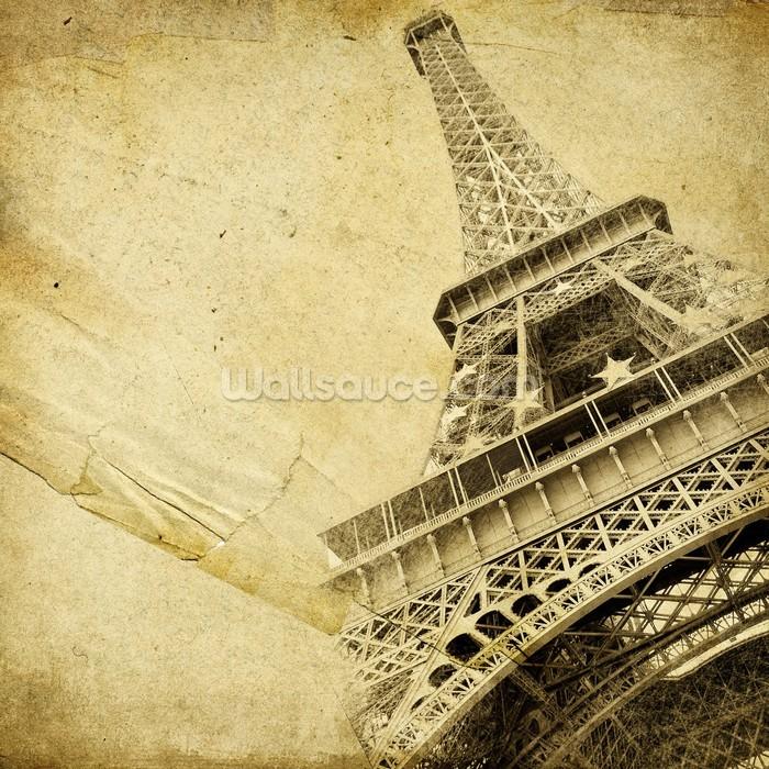 Eiffel Tower Vintage Wallpaper Mural