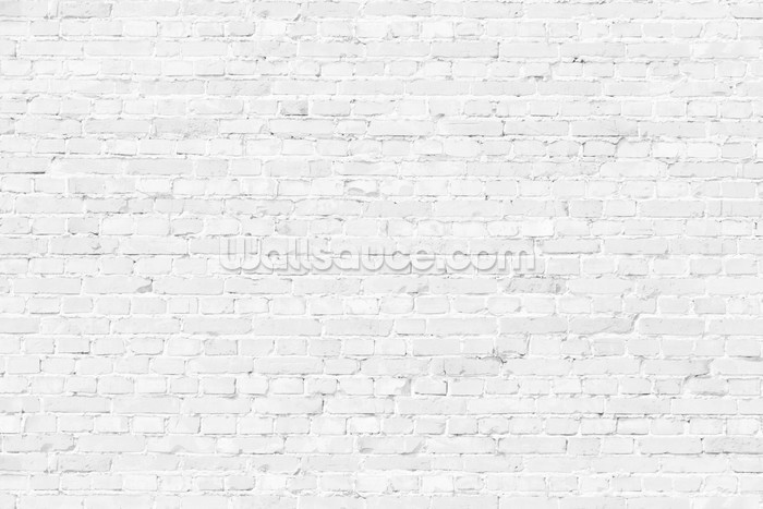white brick wallpaper mural wallsauce us. Black Bedroom Furniture Sets. Home Design Ideas