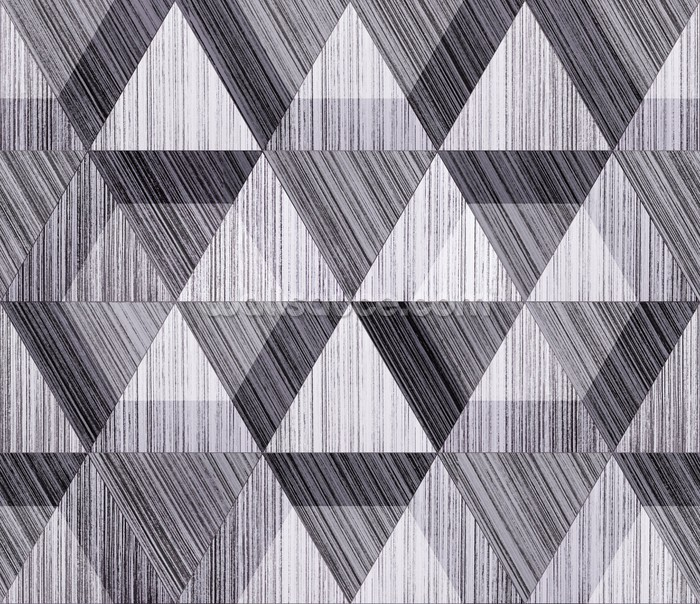 Black and white polygon wallpaper wall mural wallsauce for Black and white wall mural