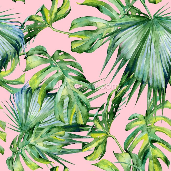 Pink Jungle Wallpaper Mural