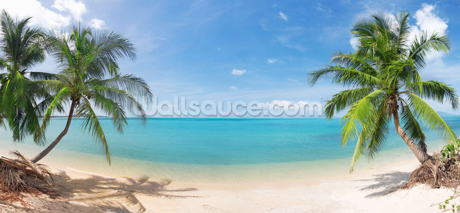 tropical beach panoramic wallpaper wall mural wallsauce usa save your design for later