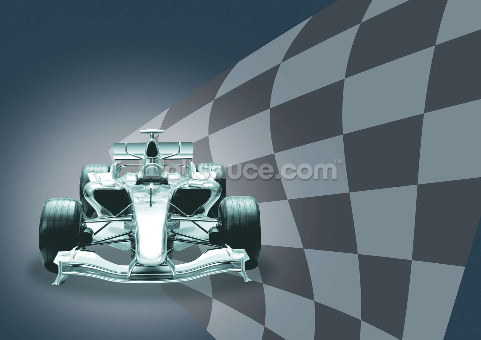 Formula 1 car and flag wallpaper wall mural wallsauce usa for Car wallpaper mural