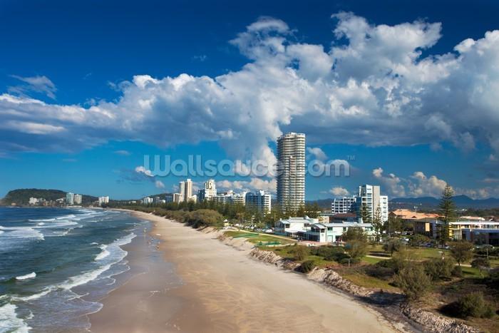 Wallpaper Burleigh Heads Beach Gold Coast Queensland: Burleigh Heads, Gold Coast Wallpaper Mural