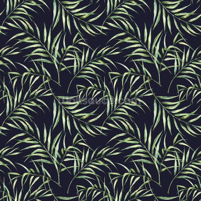Botanical Palm Tree Print Wallpaper Wall Mural