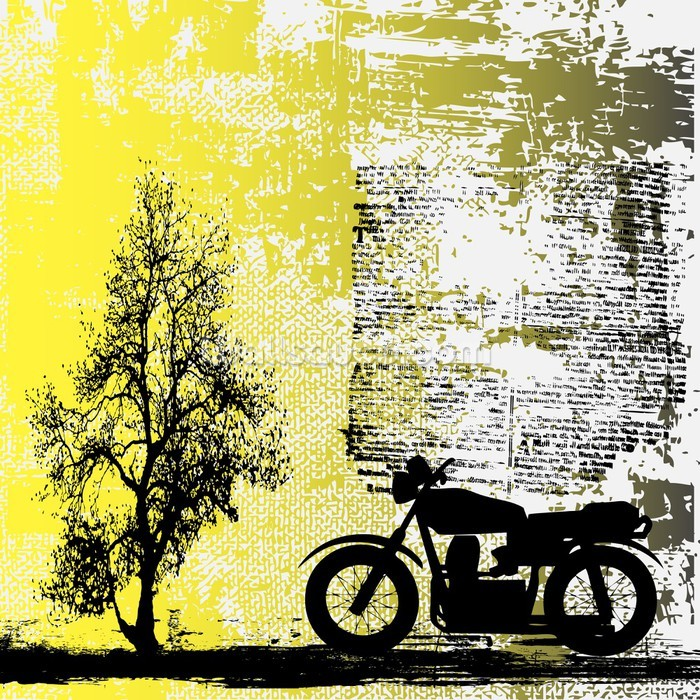 Retro Motorcycle Wallpaper Wall Mural Wallsauce USA