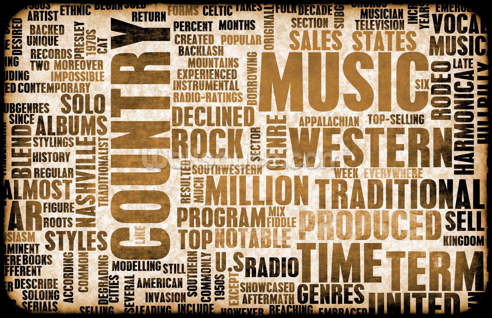 Country Music Wallpaper Wall Mural | Wallsauce USA