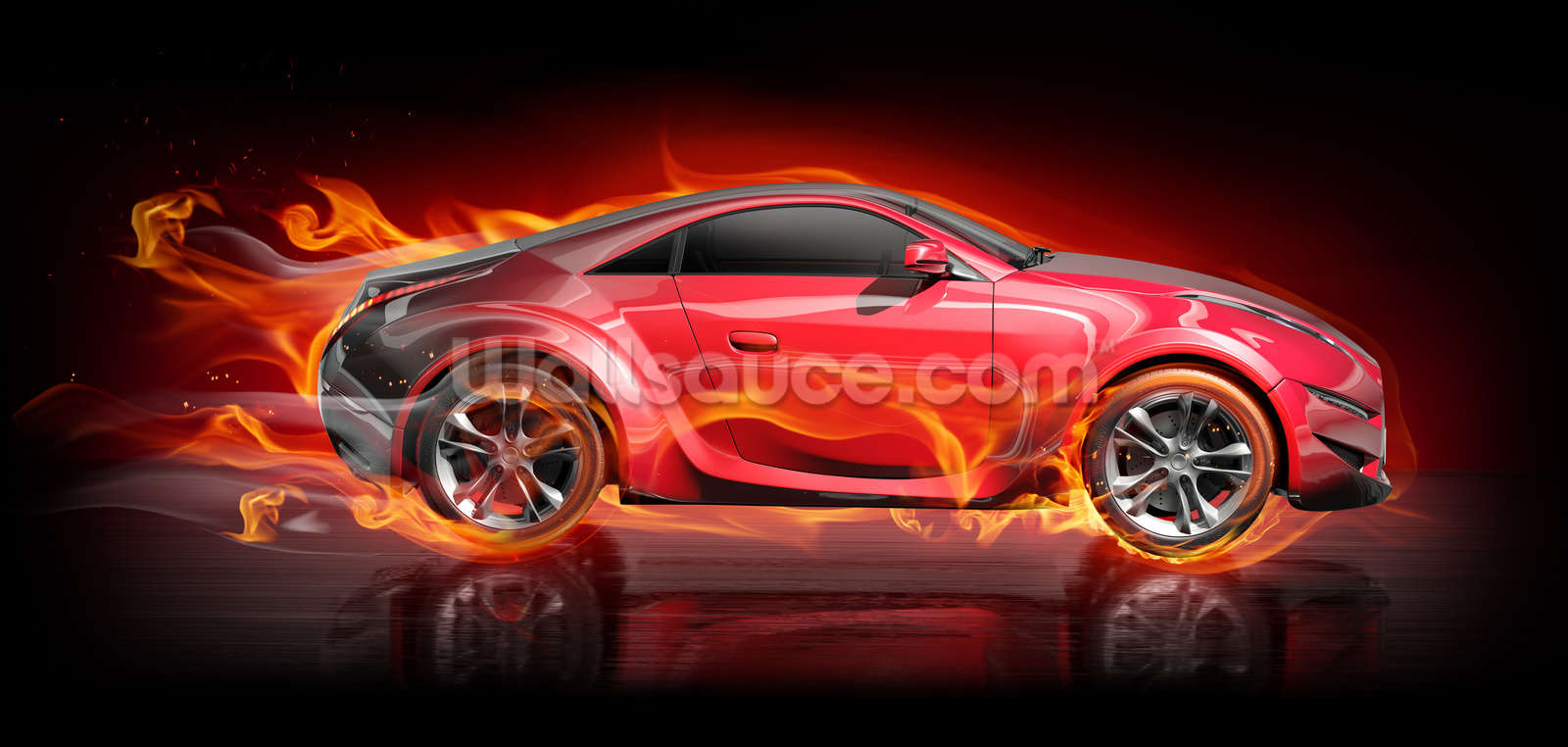 Burnout car wallpaper wall mural wallsauce usa for Car wallpaper mural