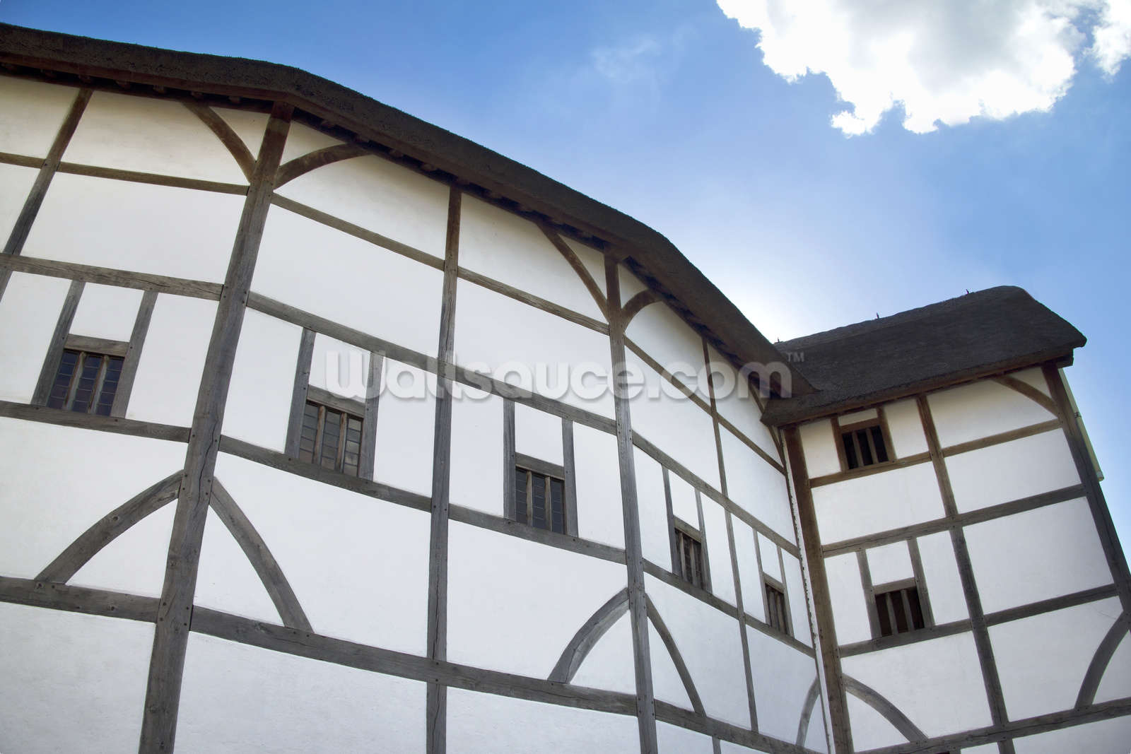 the globe theatre wallpaper wall mural wallsauce usa. Black Bedroom Furniture Sets. Home Design Ideas