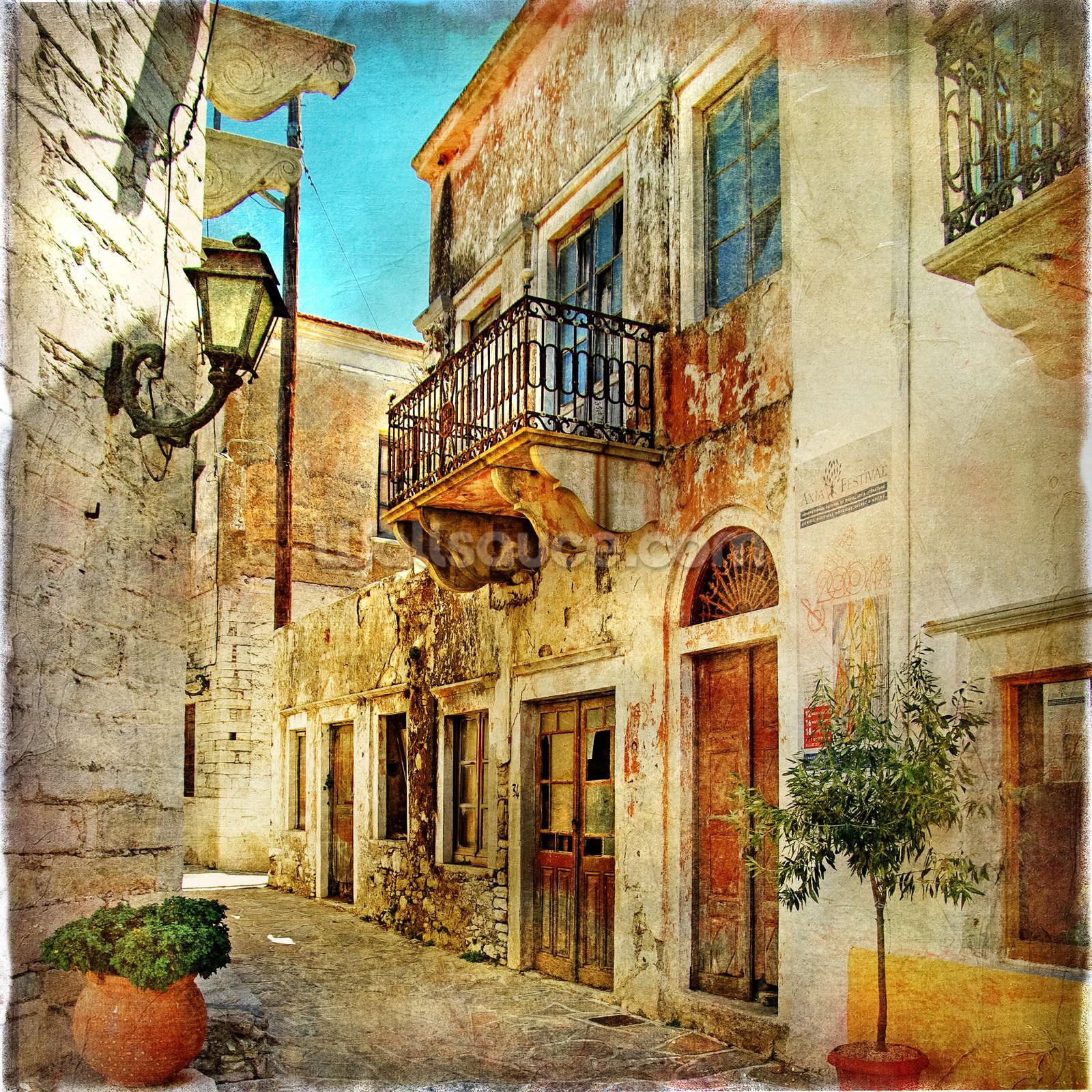 Old Town, Greece Wallpaper Wall Mural | Wallsauce USA