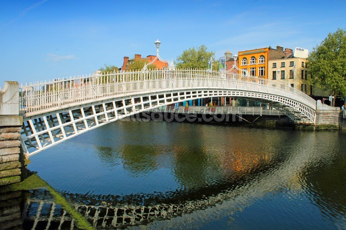 Dublin bridge wallpaper wall mural wallsauce australia for Dublin wall mural