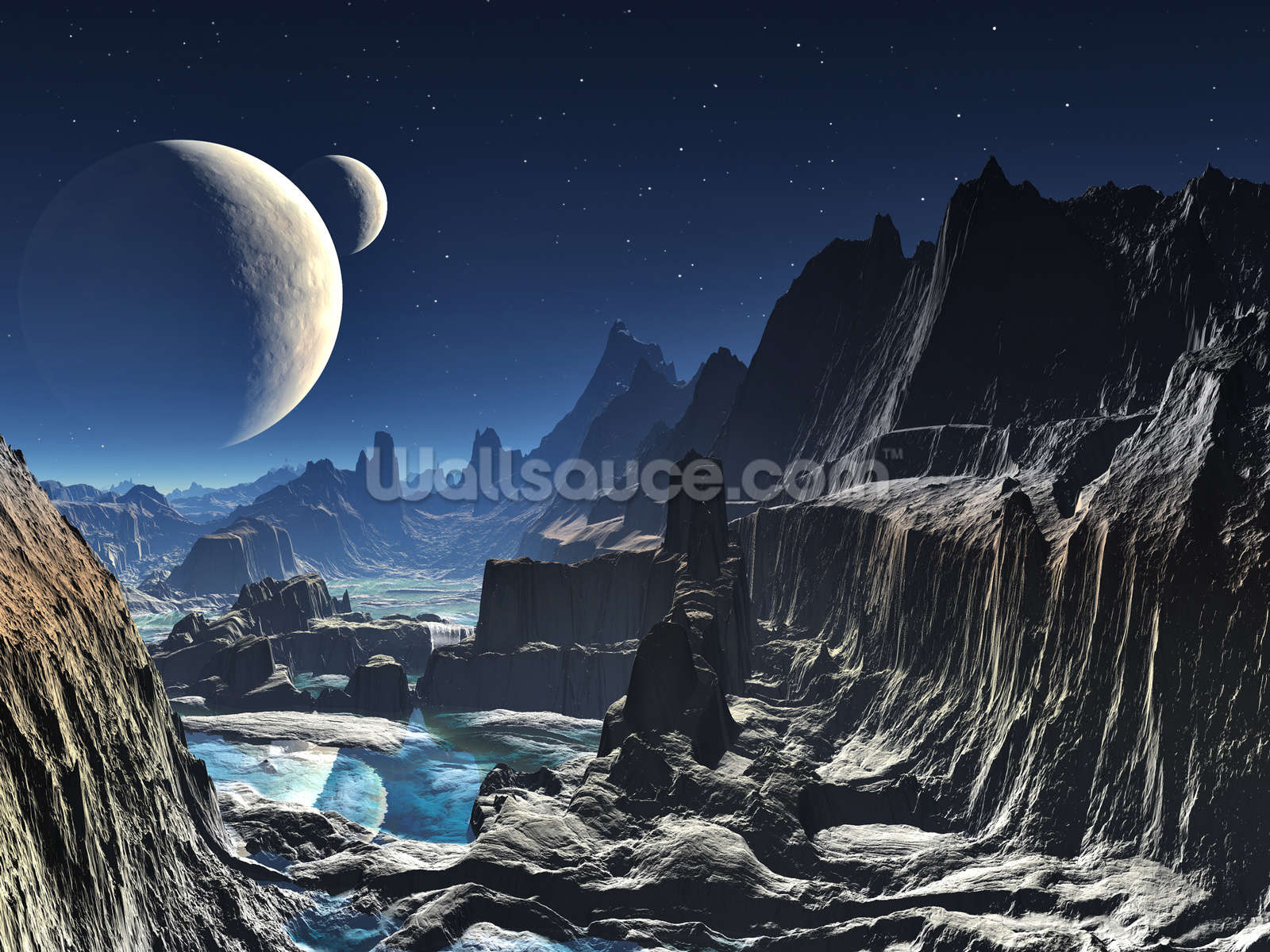 moonlit alien valley canyon wallpaper wall mural wallsauce usa moonlit alien valley canyon wall mural photo wallpaper
