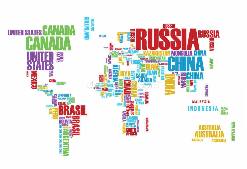 Australia Word Map.Colourful Word Cloud Map