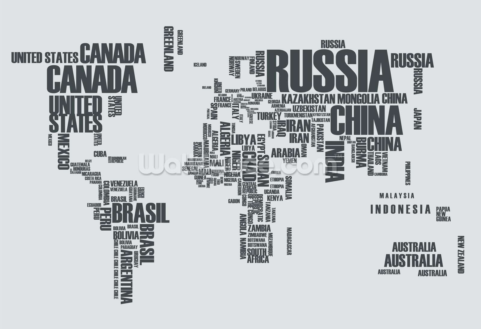World map word cloud world map word cloud wallpaper mural gumiabroncs Gallery