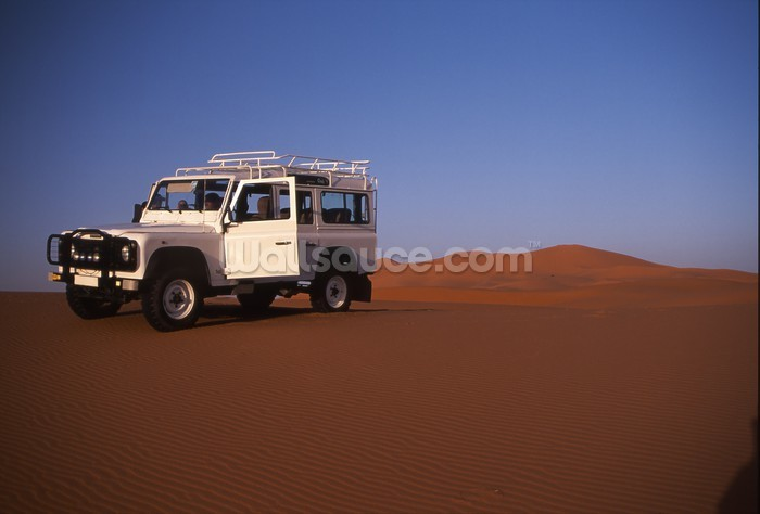 Desert landrover wallpaper wall mural wallsauce for Desert mural wallpaper