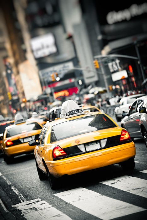 New York Taxis Cab Wallpaper Wall Mural Wallsauce Europe