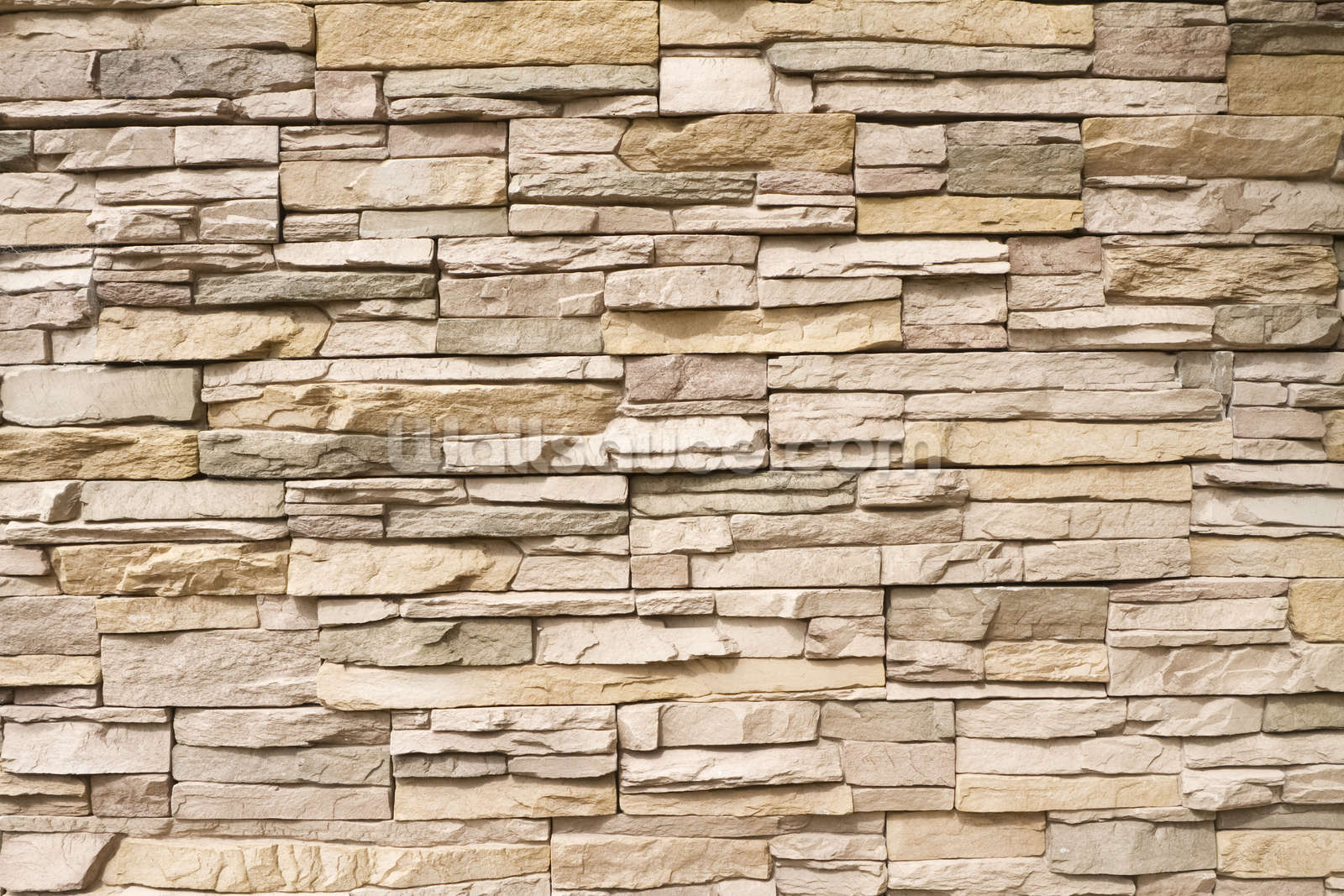 Stacked stone wall wallpaper wall mural wallsauce for Wallpaper images for house walls