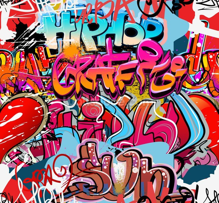 Hip Hop Graffiti Wallpaper Mural