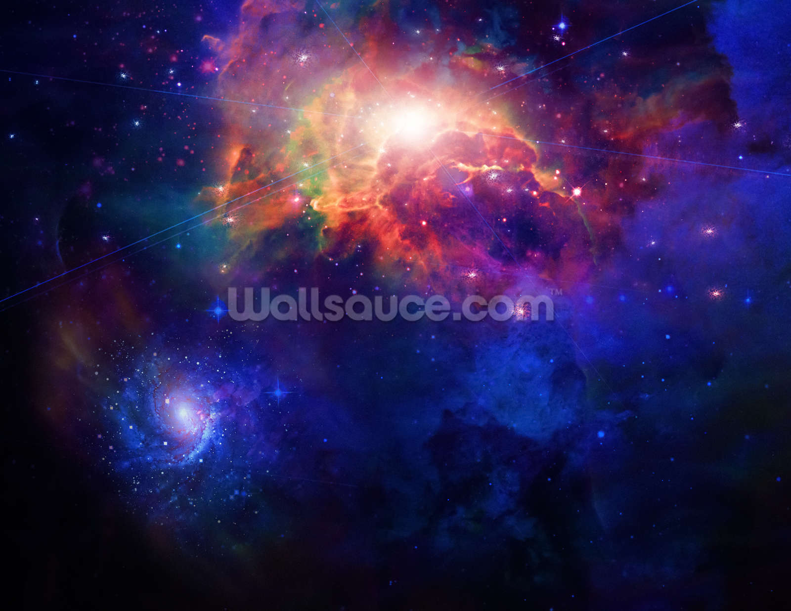 Space wallpaper wall mural wallsauce usa for Universe wallpaper for walls
