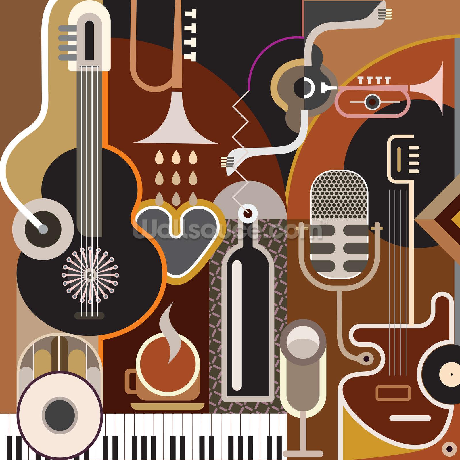 Music Abstract Wallpaper Mural