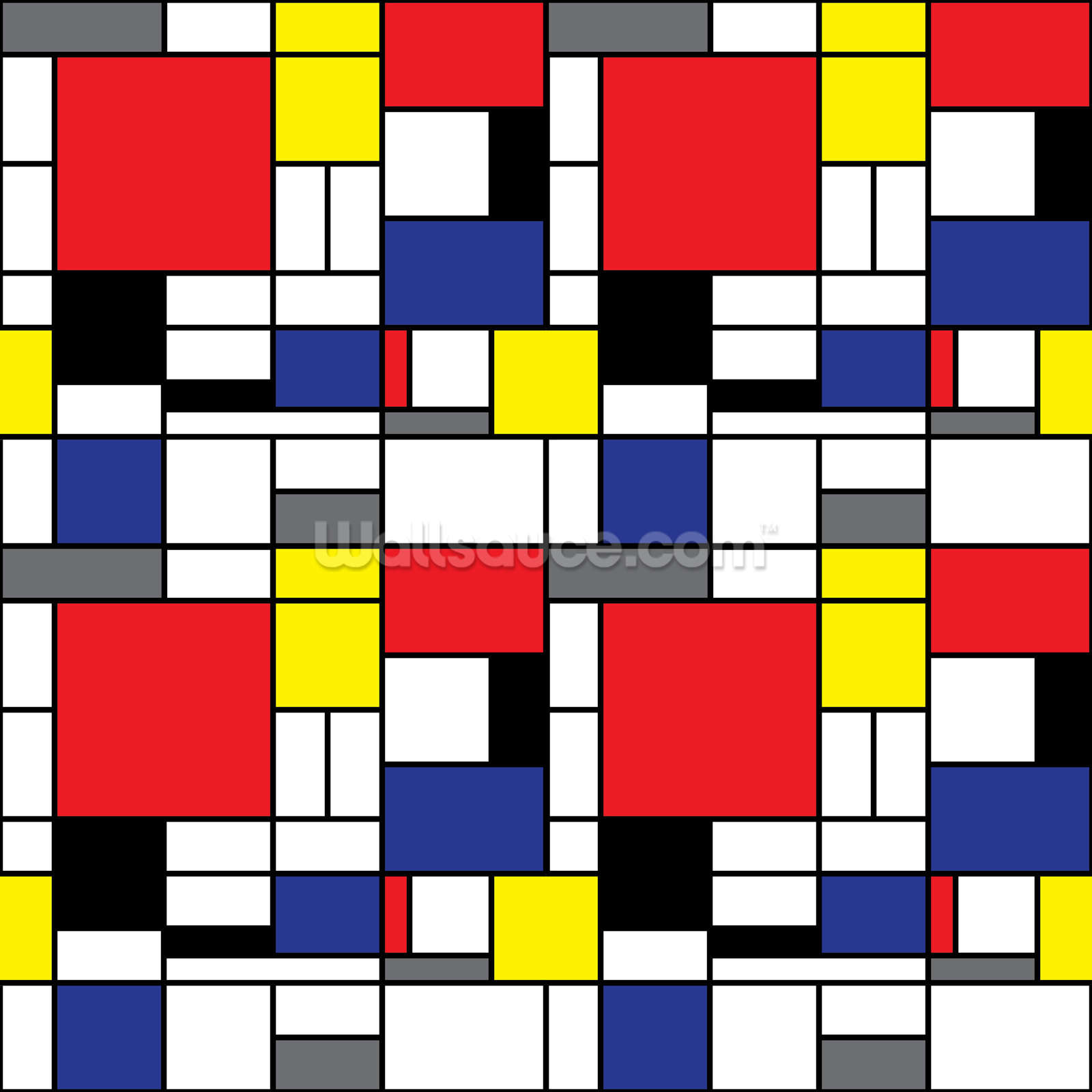 mondrian wallpaper wall mural wallsauce uk. Black Bedroom Furniture Sets. Home Design Ideas