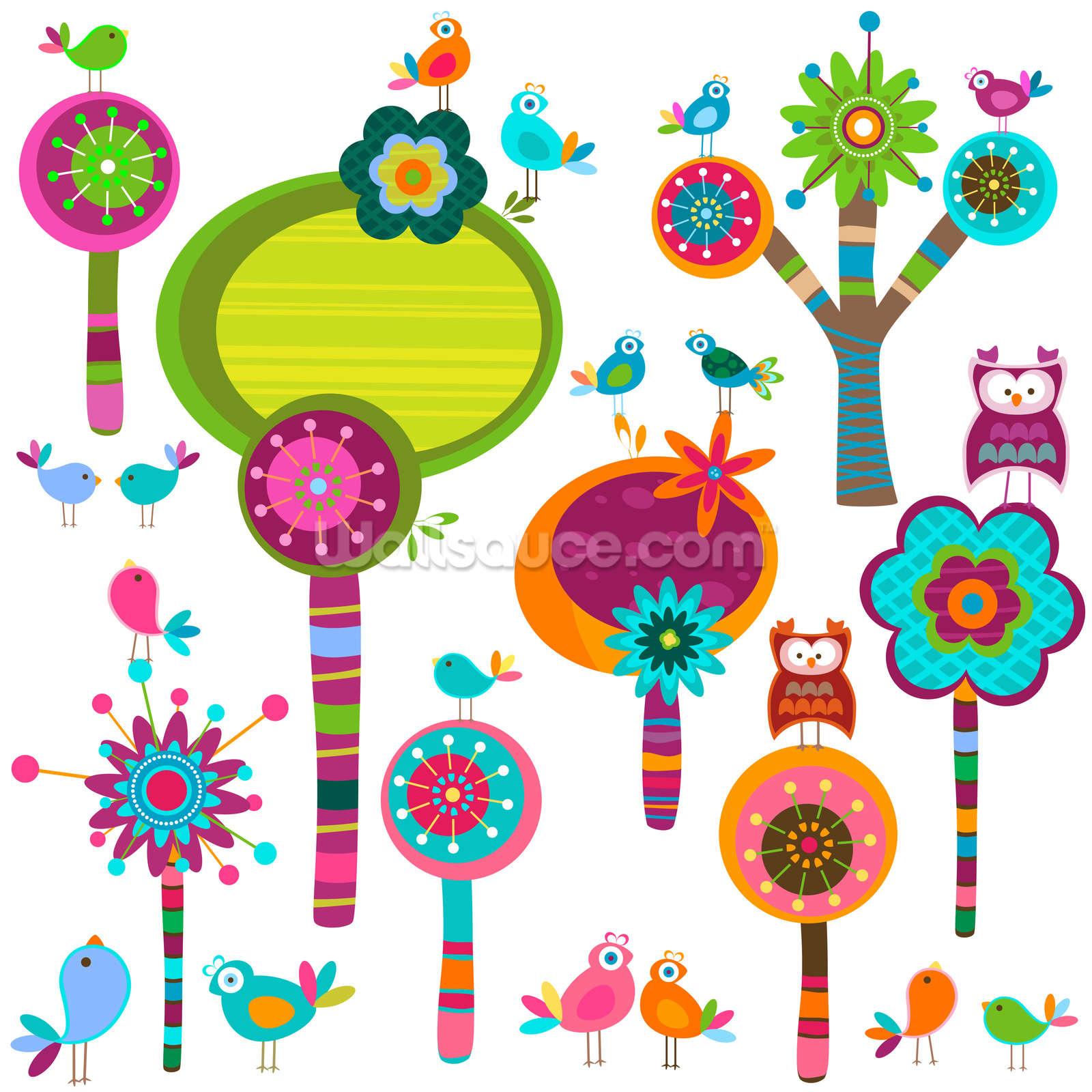 cartoon flowers wallpaper wall mural wallsauce online get cheap childrens entertainers kids aliexpress