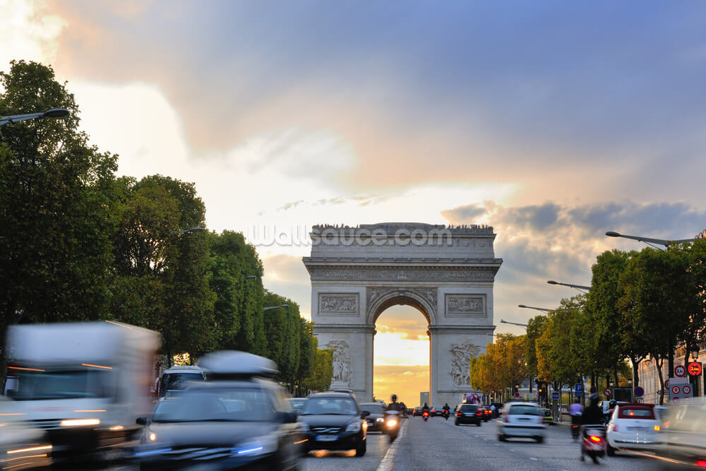 Arc de triomphe paris france wallsauce for Arc de triomphe wall mural