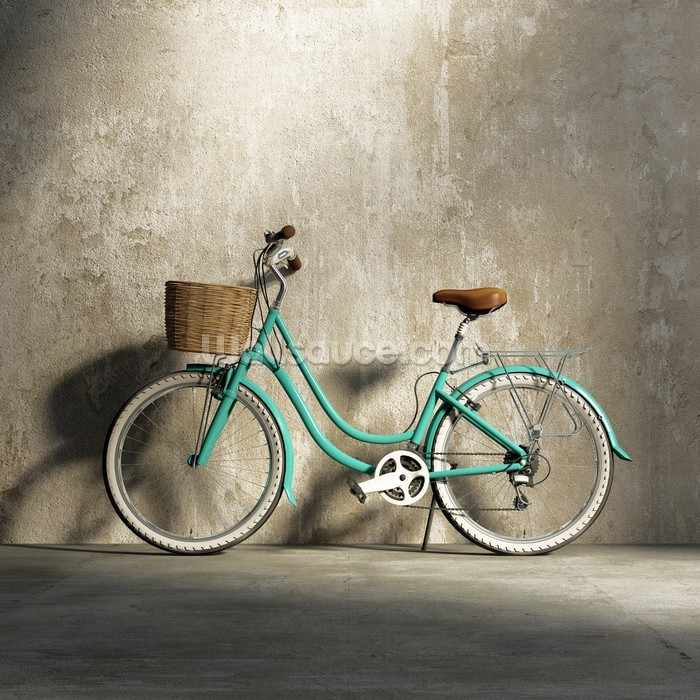 Old Green Bicycle Wallpaper Wall Mural Wallsauce New Zealand