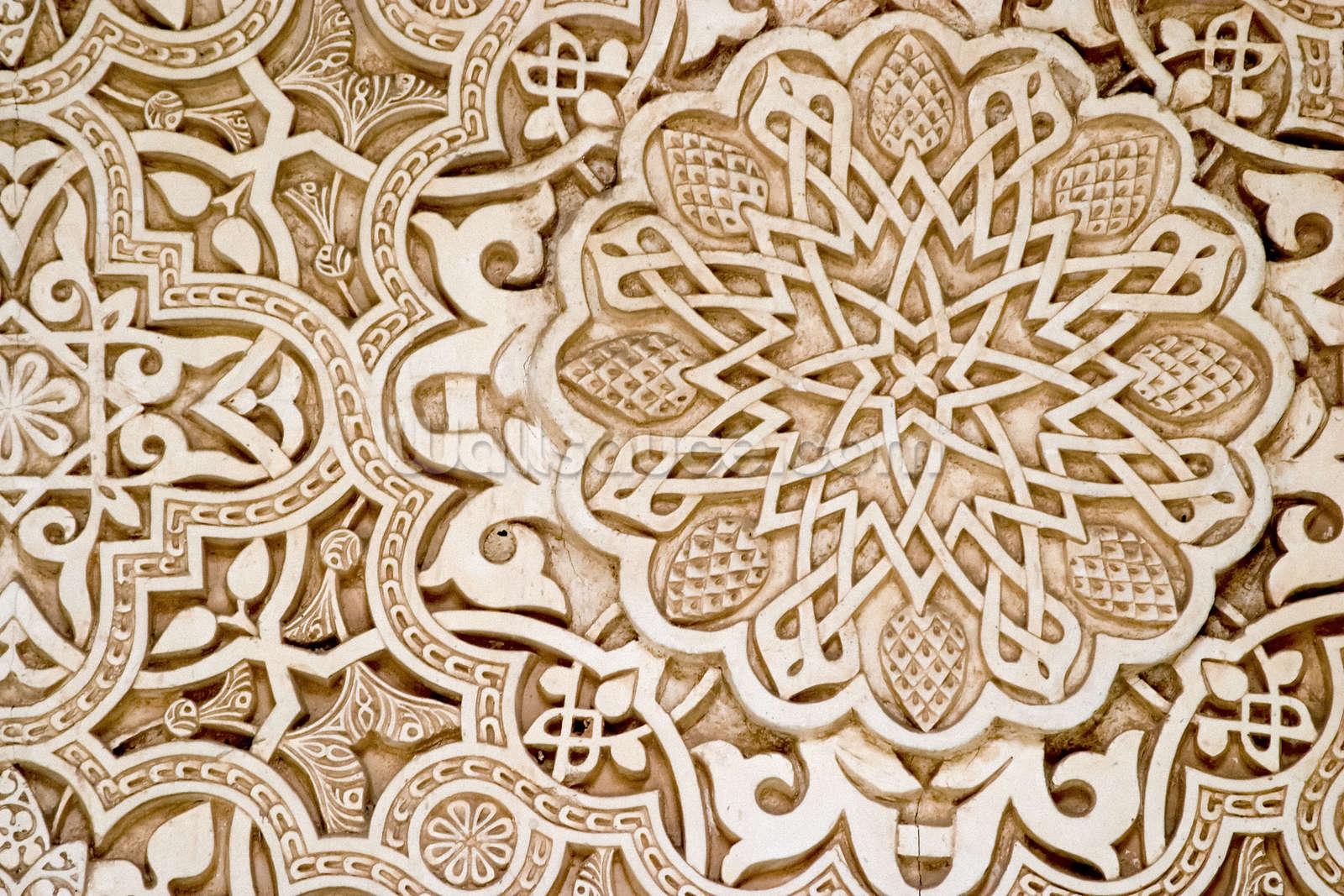 Alhambra moorish carved stone wallpaper wall mural wallsauce usa alhambra moorish carved stone wall mural photo wallpaper amipublicfo Images