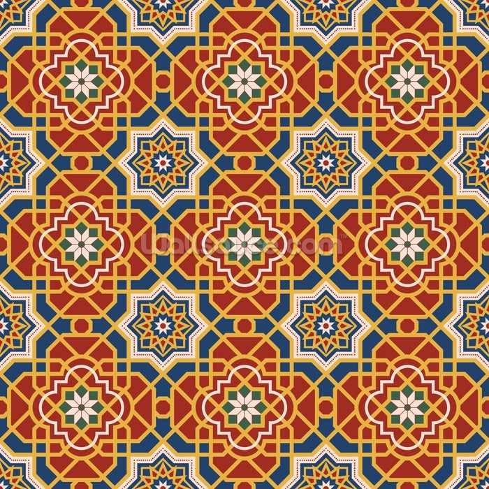 Arabesque seamless pattern in editable vector file for Mural vector