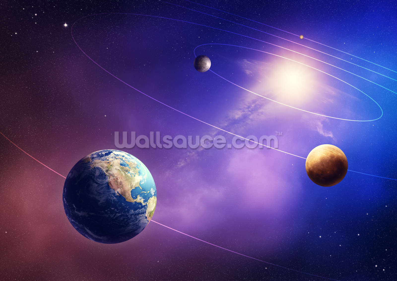 inner solar system planets wallpaper wall mural wallsauce usa inner solar system planets wall mural photo wallpaper