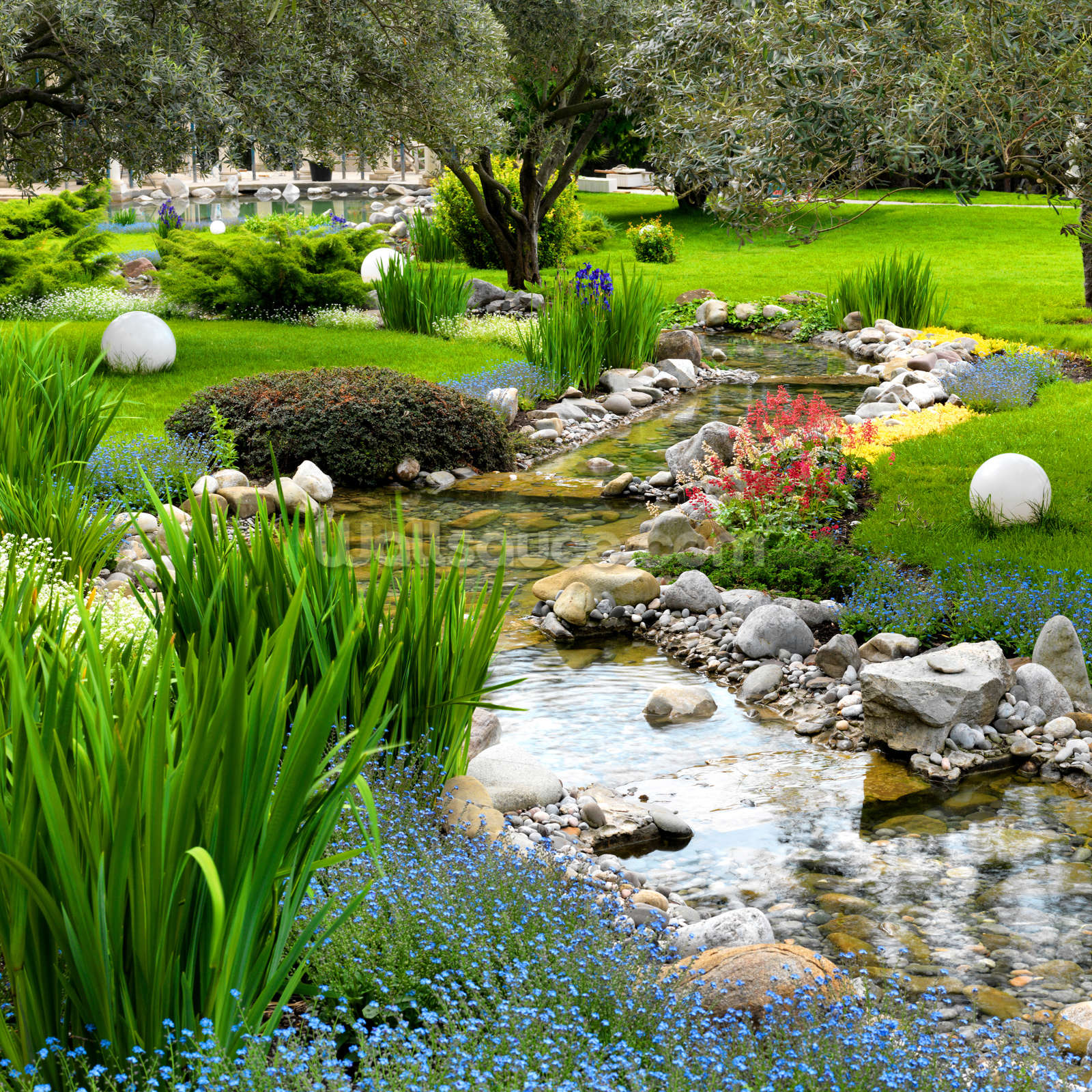 Asian garden wall