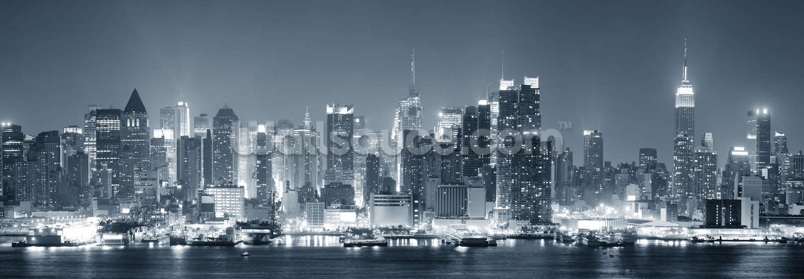 Manhattan Black White Panoramic