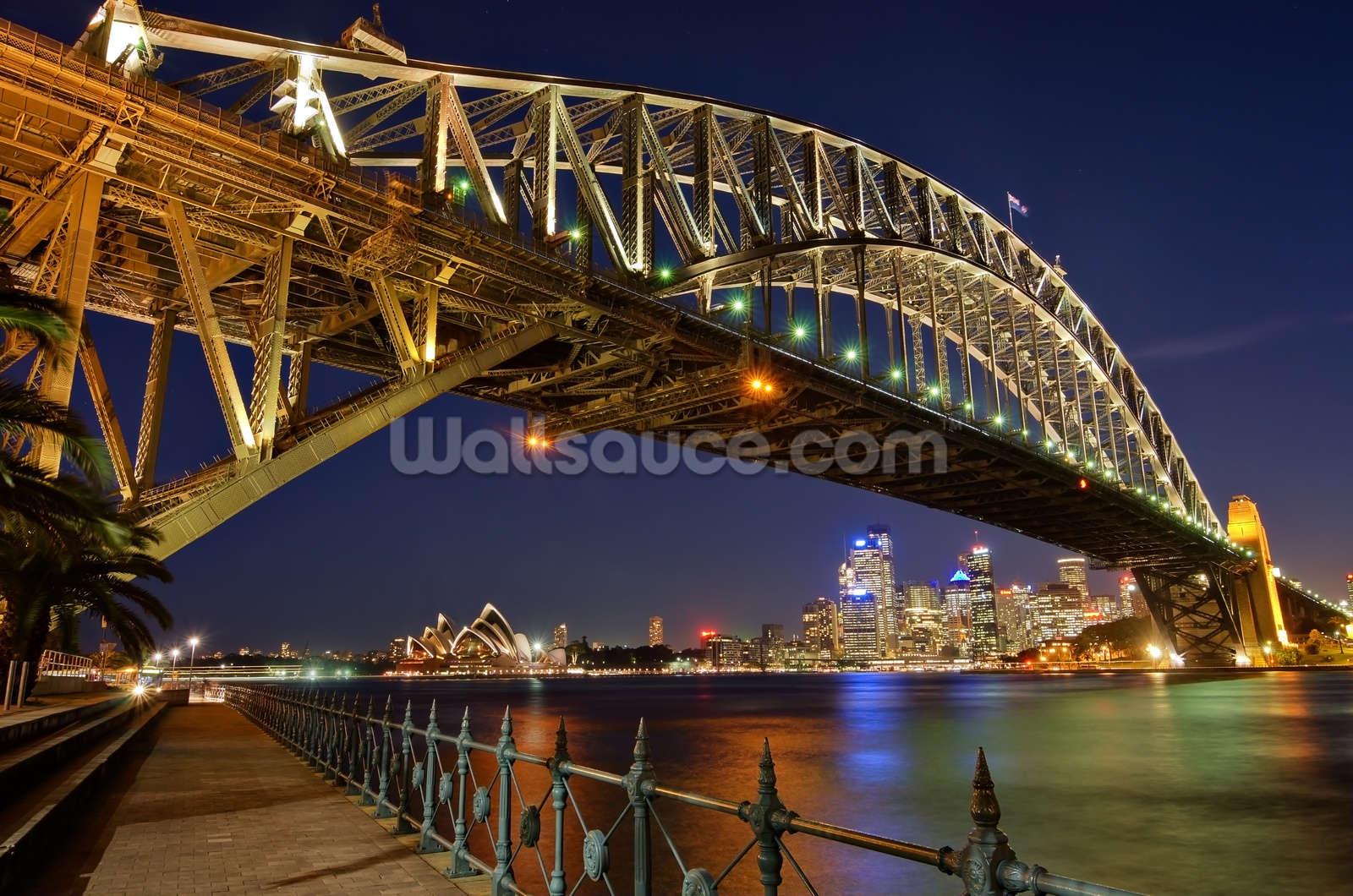 Sydney harbour bridge mural wallsauce australia save your design for later altavistaventures Choice Image