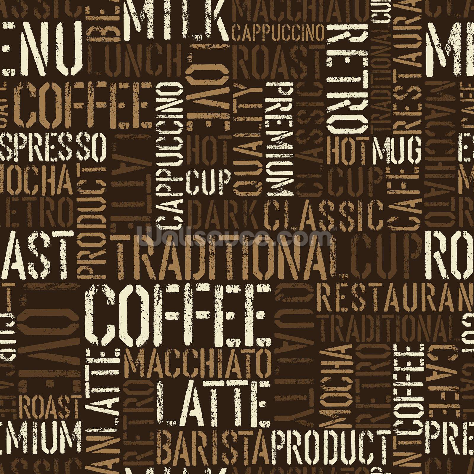 Abstract Coffee Wallpaper Wall Mural Wallsauce Usa